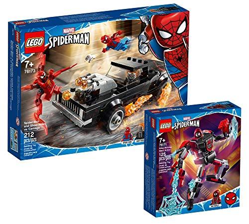Collectix Lego 76173 - Juego de Spider-Man y Ghost Rider vs Carnage (76173) + Marvel Miles Morales Mech 76171
