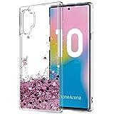 LeYi pour Coque Samsung Note 10+ Plus, Fille Personnalisé Liquide Paillette Transparente 3D...