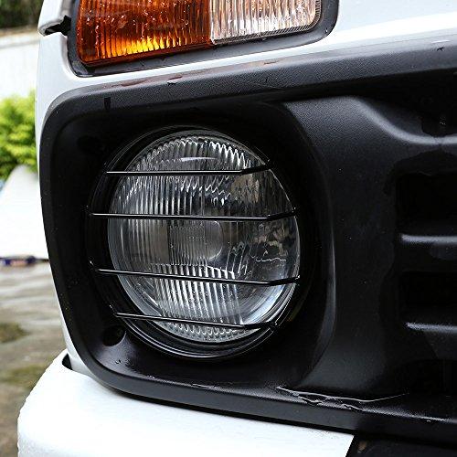 2Metall vorne Scheinwerfer Schutzfolie Besatz für Niva Auto Zubehör