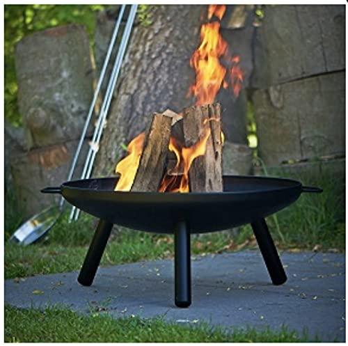 Posten Anker Premium Feuerschale für Garten, Terrasse und Camping | Feuerkorb mit Dreibein ca. 60cm breit auch für Dekoration I Feuer Schale Korb I