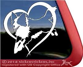 Border Collie Love Heart Vinyl Jumping Dog Decal Sticker