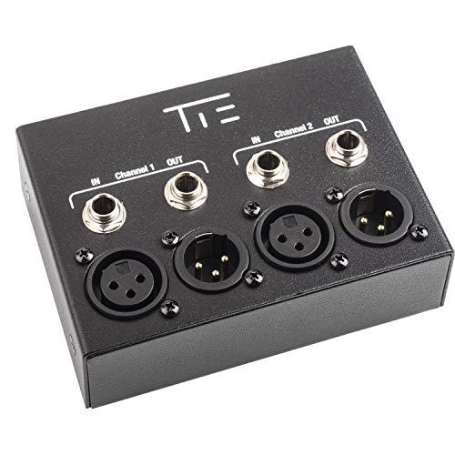 TIE THM-2 - hifi Trenntrafo (Beseitigung von 50/60-Hz-Wechselstromsignalen, 1:1 trafosymmetrierter Übertrager, Konvertierung von unsymmetrischen in symmetrische Signale) schwarz