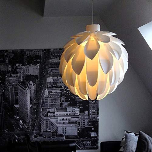 PVC handmatige hanglamp Deense stijl hanglamp decoratie den kegels opknoping lamp kroonluchter vislijn Minimalistische E27 eettafel Living bloemblaadjes fruit Creative lamp,50CM