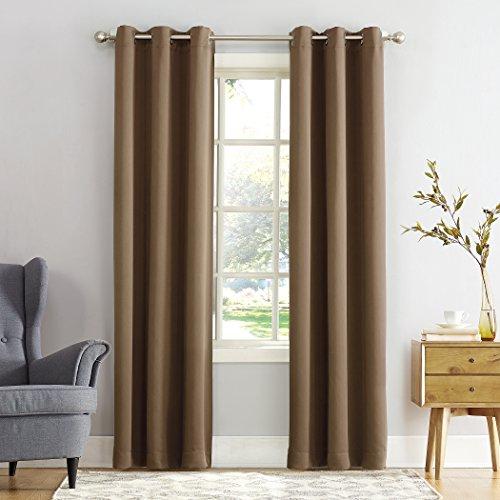 "Sun Zero Easton Blackout Energy Efficient Grommet Curtain Panel, 40"" x 63"", Barley"