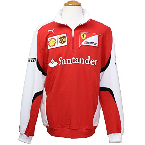 Puma Ferrari SF Team Half Zip Sweatshirt, Formel 1, Vettel, Räikkönen, rot