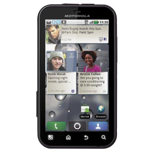 Motorola MB525 Smartphone (9,4 cm (3,7 Zoll) Display, Touchscreen, 5 Megapixel Kamera) schwarz