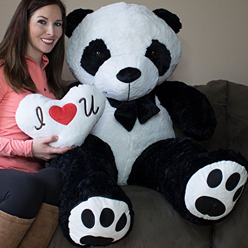Yesbears 5 Foot Giant Panda Bear Ultra Soft Paws Embroidery Pillow Included