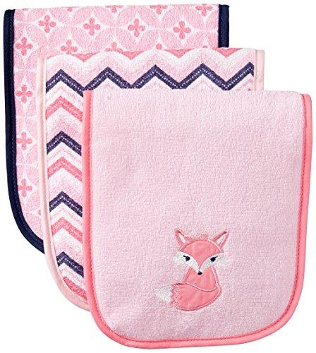 Luvable Friends Unisex Baby Cotton Burp Cloths with Fiber Filling, Foxy, One Size