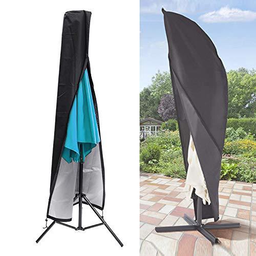 Sonnenschirm Schutzhülle, innislink Abdeckung für Sonnenschirm Garten Wasserdichtes Ampelschirm Abdeckhauben für Sonnenschirm hülle Regenschirm Abdeckung Schutzhülle für Ampelschirm 2 bis 4m - Schwarz