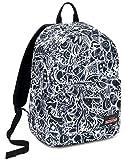 Ischoolpack Seven Black&White, 27 Lt, Bianco, Tasca Porta Laptop 15'', con Power Bank! Scuola & Tempo Libero