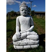 Stone Concrete Statue Extra Large Thai Buddha Marbella Art [DELIVERY EXCEPTIONS]