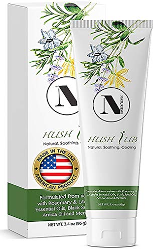 HUSH RUB Pain Relief Cream (3.4 oz) - Soothing, Cooling,...
