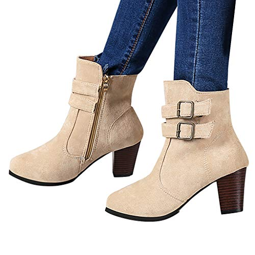 Hemlock Ankle Boots Women, Ladies Winter Dress Boots Zipper High Heels Booties Shoes Pointed Top Boots