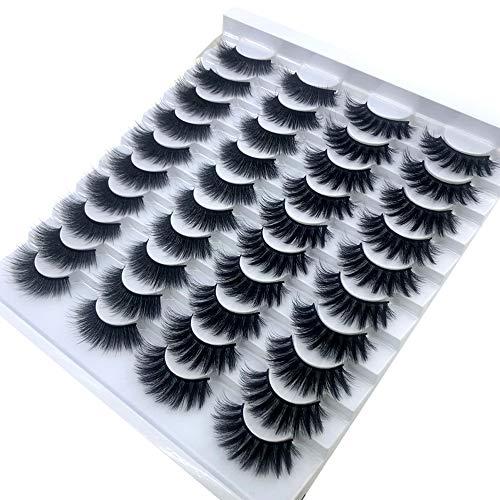 HBZGTLAD 20 pairs 3D Mink Lashes Natural False Eyelashes Dramatic Volume Fake Lashes Makeup Eyelash...