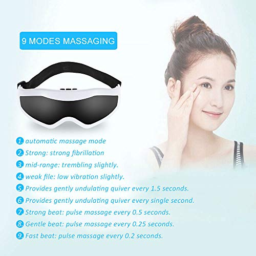 OLACPEA Eye Massager with Eyeglasses and Eye Protector Can Relieve Eye Fatigue, Dark Circles, Dry Eyes and Improve Sleep