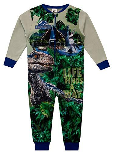 Jurassic World Pijama Entera para niños Dinosaurios Multicolor 9-10 Años