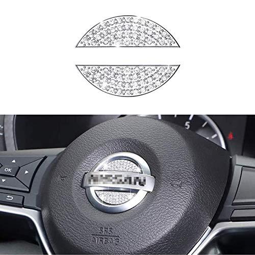 Bling Bling Car Steering Wheel Decorative Diamond Sticker Fit For NISSAN,DIY Bling Car Steering Wheel Emblem Bling Accessories for NISSAN