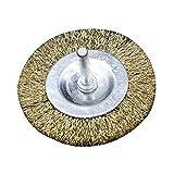 LNIMIKIY Herramientas Cepillo Alambre Acero Pulido Desbarbado Pulido para Accesorios Taladro rotativo Copas Soldadura Recambio portátil Rectificadora Ruedas Amoladora Eliminación óxido(Tipo T75mm)