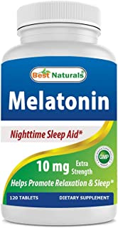 Best Naturals Melatonin 10mg 120 Tablets - Drug-Free Nighttime Sleep Aid - Melatonin for Sleep and Relaxation (Pack of 2)
