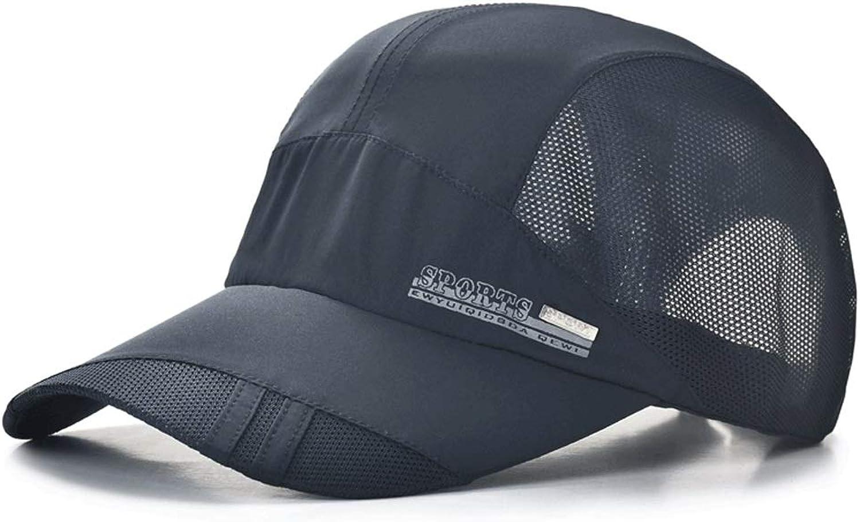Sun Hat Men's Summer Outdoor Sunscreen Sunscreen Breathable Baseball Cap Sports Cap Thin Section 5660cm ZHAOSHUNLI (color   blueee)