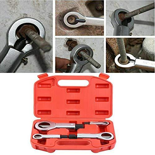 Ambienceo 4PCS Heavy Duty Nut Splitter Set, Broken Damaged Screw Nut Removal Splitting Tools 4 Sizes (1 Set of Nut Splitters) W/Red Box