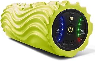 USB充電式電動フォームローラー 振動筋膜リリース 5段階調節設計 マッサージ ストレッチ トレーニング器具 ヨガボールー無料贈り 日本語説明書付き