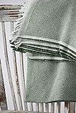 Textilhome - Foulard Multiuso Salvadivano Copridivano Dante 180x285 cm - Copriletto Leggero. Colore Verde Scuro