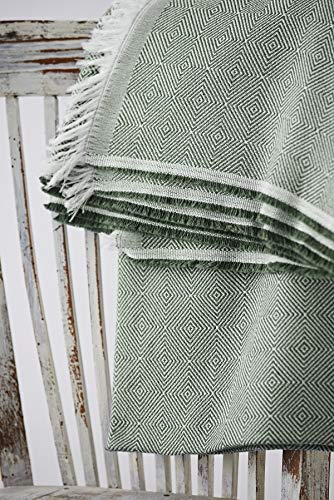 Textilhome - Funda Multiusos Foulard Cubre Cama Dante - 230x285 cm - para Funda Sofa 3 Plazas, Protector Cubre Sofa. Color Verde Oscuro