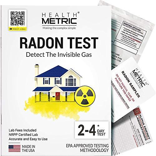 Radon Test Kit for Home - Easy to Use Charcoal Radon Gas...