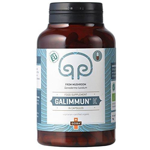 Goba BIO Galimmun® K - Reishi Pulver - Vitalpilze (140 Kapseln) [Ganoderma lucidum, aus Slowenien] Tausendkraut