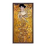 Gustav Klimt Adele Bloch-Bauer Long Framed Art Print Wall