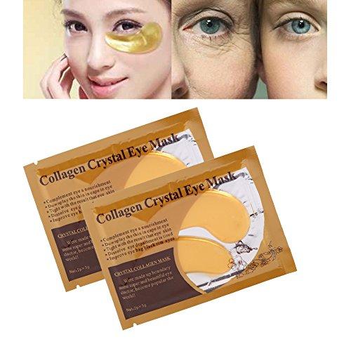 10 unids Wowen Colágeno Máscara de Ojos Antiarrugas Envejecimiento Cristal Crema Hidratante Párpado Parche Nuevo