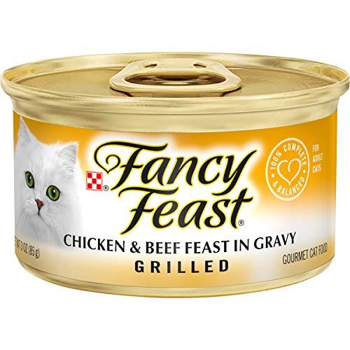 Purina Fancy Feast Gravy Wet Cat Food, Grilled Chicken & Beef Feast - (24) 3 oz. Cans