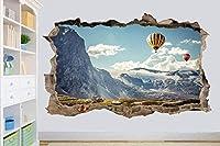 UYEDSRウォールステッカー雪山の壁のステッカーの風船部屋の装飾デカール壁画60x90cm