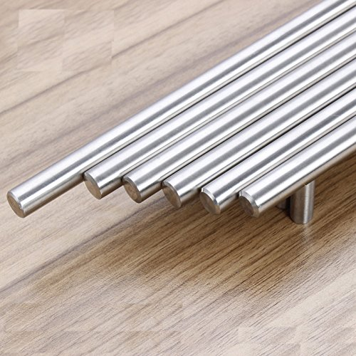 Aybloom Cabinet Handles - Pack of 30 Stainless Steel Brushed Satin Nickel Finish Hollow Tube T Bar Drawer Pulls for Kitchen Furniture Hardware