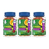 Gerber Lil Brainies Kids Gummy Multivitamin: Omega 3, 6 & 9 from Chia Seed Oil, Plant-Based Dha & Choline for Brain Development & Memory, Non-GMO, Gluten-Free (Packaging May Vary), 180Count