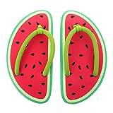 ABOOFAN Chanclas Creativas Sandía Zapatillas de Frutas Verano Playa Sandalias de Diapositivas para Mujeres Hombres Tropical Hawaii Piscina Interior Casa Exterior M 1 par