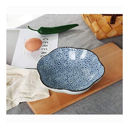 Plato de plato de sopa occidental de tazón de cerámica, placa de onda, placa de cerámica para el hogar, plato de fruta