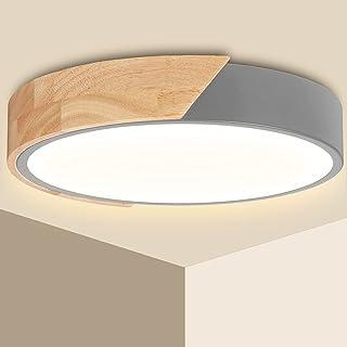 Plafonnier LED 24W Ketom Lampes de Plafond Blanc Chaud 3000K 2400LM Moderne Luminaire Plafonnier Rond Intérieur Lampe Plaf...