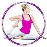 Hula Hoop - Pneumatico per fitness, sport, casa, ufficio, addominali, 8 parti rimovibili per regolare la larghezza dell'hoop, adatto per adulti e bambini