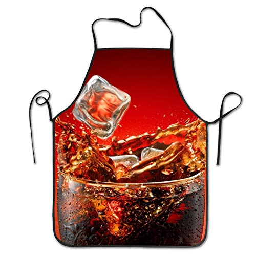 SWEET TANG Kitchen Apron Bib for Men Boys, Waterproof, Comfortable and Easy Clean Bib Aprons, Oil-Proof Bib with Durable Lacing, Summer Cool Coke Cooking BBQ Baking Aprons
