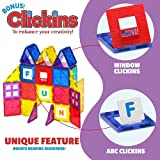 Playmags 100-Piece Colorful Tile Set, Unique Award-Winning Magnetic Building Tiles for Kids, Creativity and Educational Building Toys for Children, STEM Approved