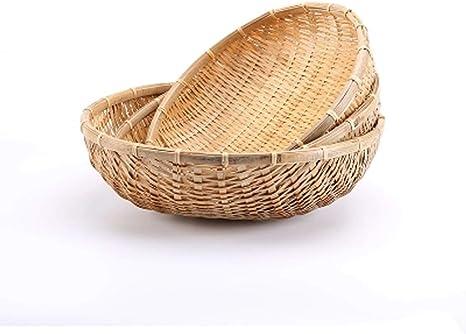 Cestas De Bambú Naturales Hechas A Mano Para Secar Hierbas Y Frutas Y Verduras Cesta De Almacenamiento De Drenaje Para Jardín Tamaño Opcional Home Kitchen