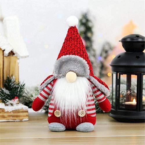 Gpure Navidad Hogar Decoración Niños Pequeña Juguetes Sin Rostro Adornos Bebes De Regalos Terraza Juguetes Felpa Elfos Navideños Muñecos (B)
