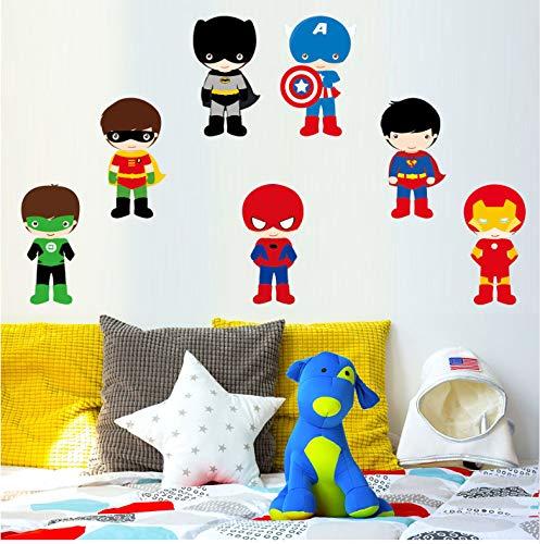 Varios Superhéroes Los Vengadores Pegatinas De Pared Para Niños Habitación Decoración Del Hogar Diy Calcomanías Mural De Dibujos Animados Pvc Arte Cubierta De Impresión Cartel