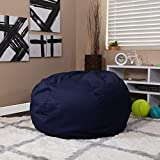 Flash Furniture Oversized Solid Navy Blue Bean Bag Chair for Kids and Adults