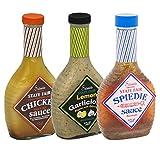 3-Pack Salamida State Fair 16 Oz Marinades: Chicken BBQ, Lemon Garlicious, Spiedie