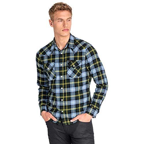 Lee Camisa Western Azul Hombre