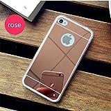 PANXIYUE Coque iPhone 4 / 4S Miroir Silicone TPU Coloris Rose Etui Housse Bumper