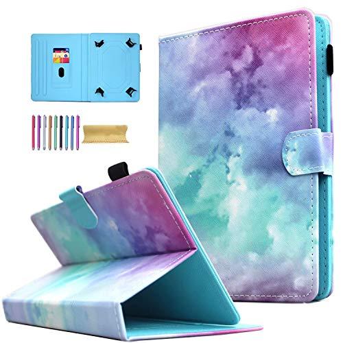 AMOTIE - Funda universal para tablet de 7' (función atril), diseño de nube rosa